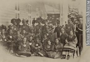 Groupe huron-wendat de Wendake (Lorette) à Spencerwood, Québec, QC, 1880