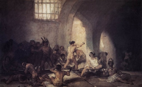 La Maison des fous de Francisco Goya 1812-1814