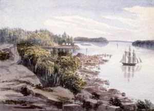 Grosse Île en 1832 La ferme de Pierre Duplain sur la Grosse Île avant l'établissement de la station de quarantaine en 1832